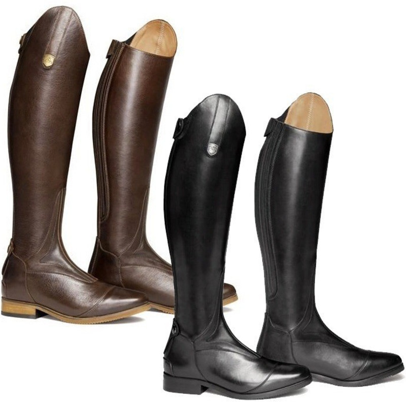 Equestrian High Boots  Rider Horse Riding Boots For Women Boots Smooth PU Leather Autumn Spring Mountain Riding Boots Fashion
