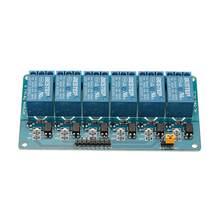 Módulo optoacoplador de relé de 6 canales, 3,3 V, aislamiento activo bajo paso para Arduino
