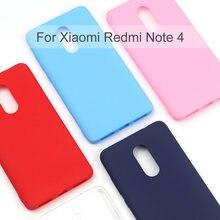 Силиконовый чехол для xiaomi redmi note 4 мобильный телефон