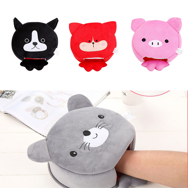 Heated Mouse Pad Winter Warm Mouse Pad Thick Cartoon Plush Hand Warmer Heated Mouse Mat USB Port Winter Mouse Mat
