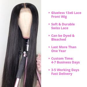Image 4 - 13x6 תחרה מול שיער טבעי פאת 8 30 Inch ישר שיער טבעי פאות רמי שיער 180 צפיפות תחרה פרונטאלית פאות לנשים שחורות