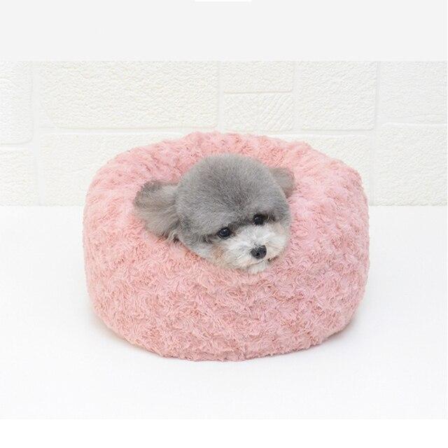 Купить круглая кровать для собаки длинные плюшевые кровати кошек теплые картинки цена