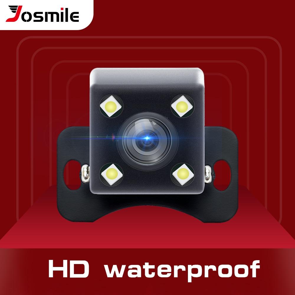 Cámara de visión trasera para coche Josmile cámara de aparcamiento de respaldo Universal 4 LED visión nocturna impermeable 170 gran angular imagen en Color HD| |   - AliExpress