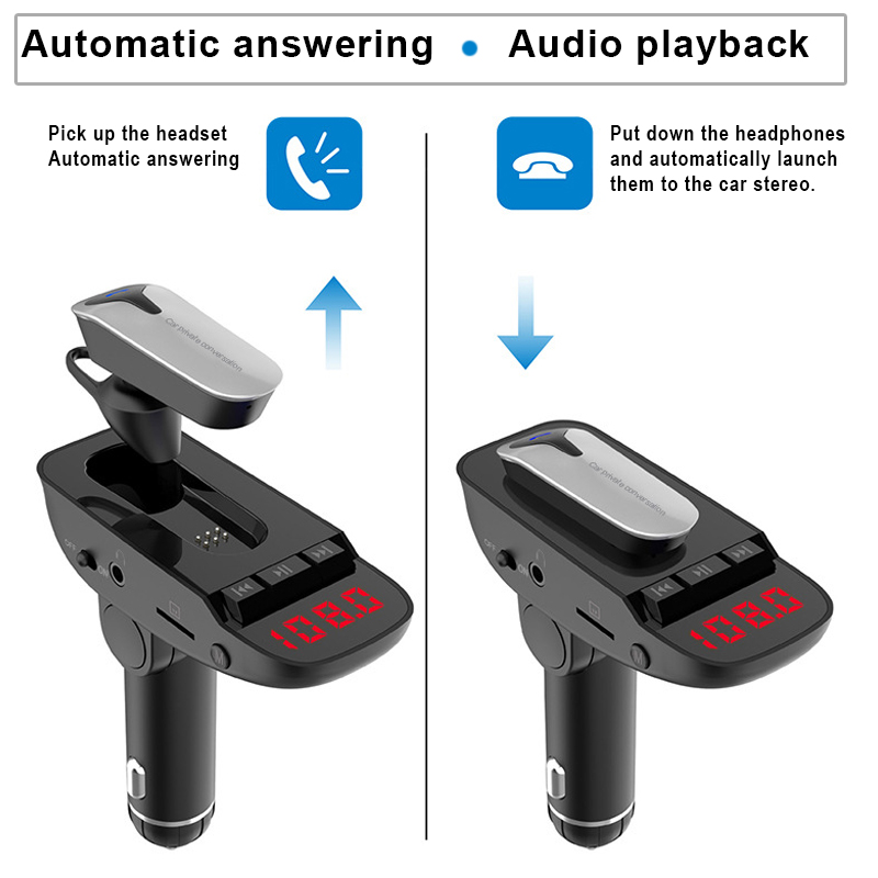 Headset Mp3-Player Support U-Disk Tf-Card Fm-Transmitter Handsfree Bluetooth 999 Newly