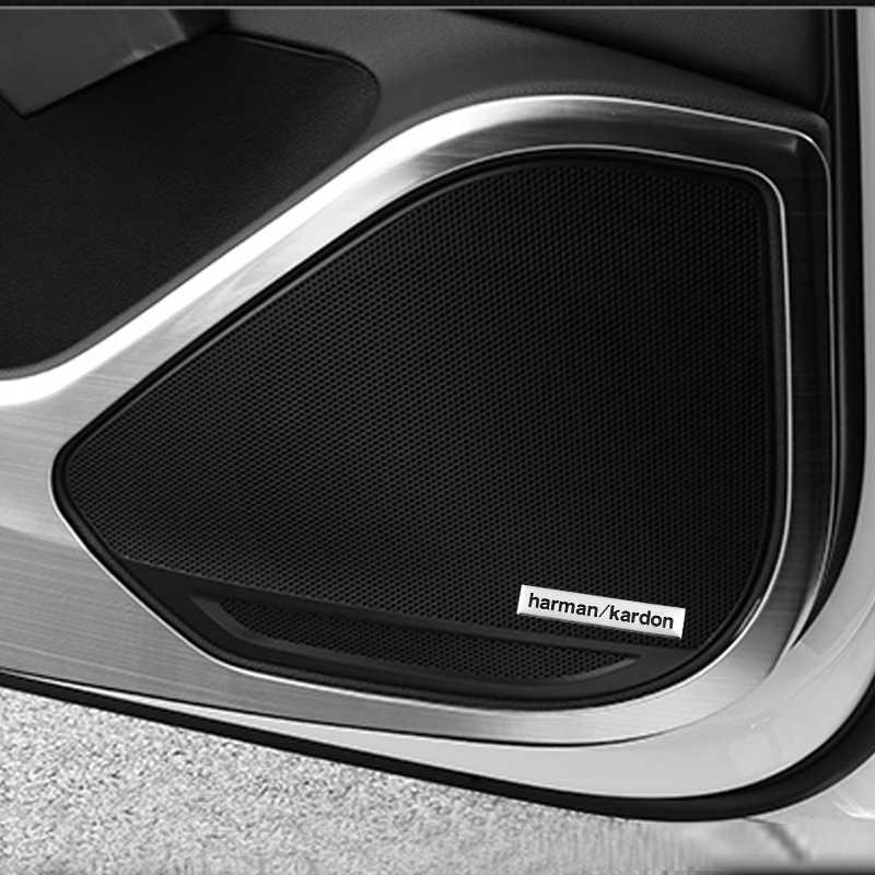 Harman kardon voiture audio décorer Voiture Haut-Parleur Hi-fi autocollant Pour Audi a1 a3 a4 a5 a6 b6 b7 b8 c5 c6 c7 q5 q7 8p 8v accessoires De Voiture