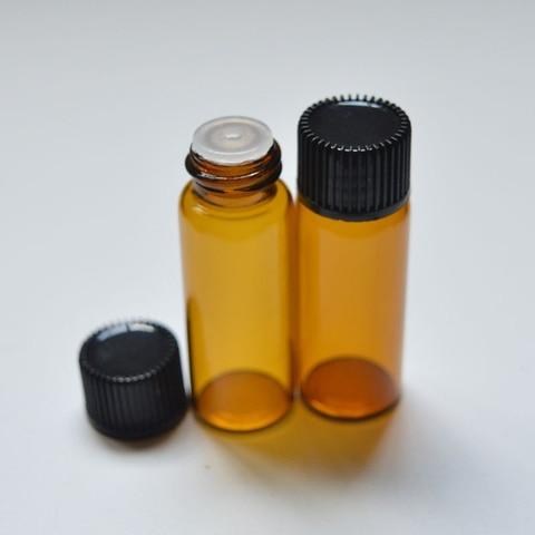 5ml mini garrafa de vidro ambar com
