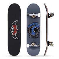 PUENTE 608 ABEC - 9 adulto de cuatro ruedas Skateboard doble Snubby Arce Skateboard 5 pulgadas magnesio aleación de aluminio camión