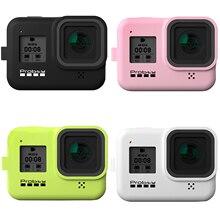 Probty Neue Weiche Silikon Fall mit Griff Armband für GoPro Hero 8 Kamera Zubehör