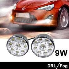 Kongyide автомобильный светильник 2 шт. 9 светодиодный круглый дневной ходовой светильник DRL для вождения белый автомобильный противотуманный головной светильник светодиодный автомобильный светильник s Внешний