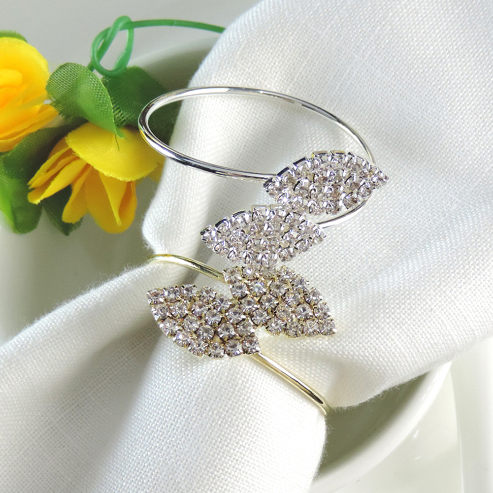 Silver Leaf Napkin Rings - 10 PCS/SET -Dining Table Decor Best Children's Lighting & Home Decor Online Store