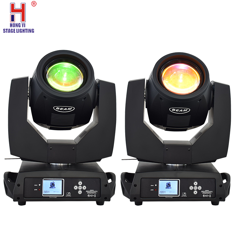 <font><b>Beam</b></font> <font><b>230</b></font> lamp 7r Sharpy <font><b>beam</b></font> prism moving head light with 14 colors and 17 gobos for nightclub concert lighting 2pcs/lot image