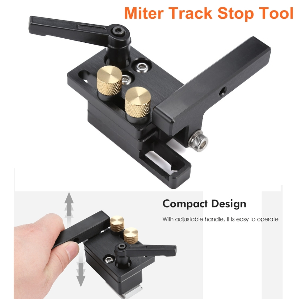 Miter Track Woodworking Connector T-Slot Retainer Stop Aluminium Alloy Hot Sale~