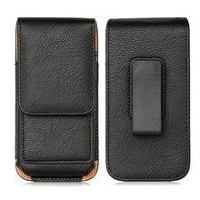 Taşınabilir telefon çantası Nokia 1.3 kapak için cep telefonu kemer çantası NUU X6 5.71 inç deri kılıfı kılıf kapak