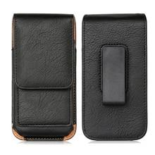 Protable saco do telefone para huawei honor 9x pro capa cinto de telefone celular caso para huawei p inteligente pro 2019 bolsa de couro coldre capa
