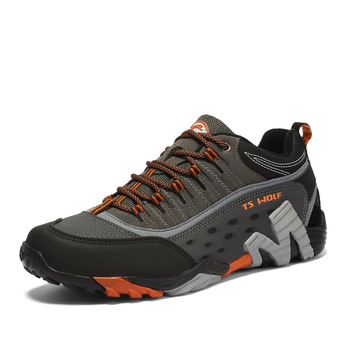 Outdoor Lover Trekking Shoes Men Waterproof Hiking Shoes Mountain Boots Genuine Leather Woodland Hunting Tactical Shoes 2