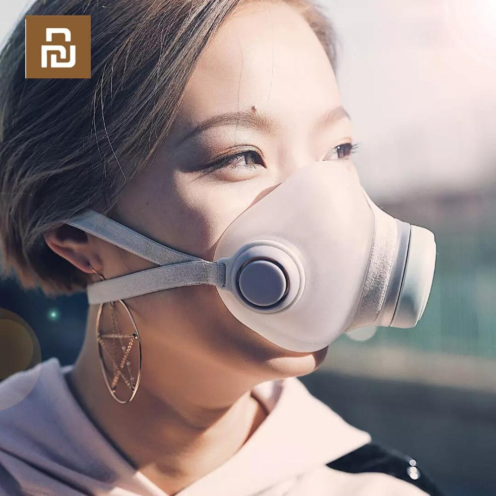 Image 2 - Youpin Woobi Play маска для взрослых 4 слойная Защитная односторонняя маска для лица с клапаном PM2.5 воздухопроницаемая Пылезащитная маскаМаски    АлиЭкспресс