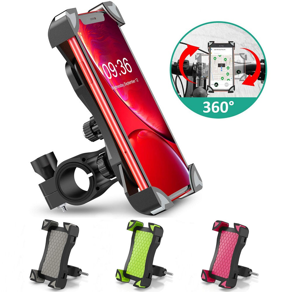 Bicycle Phone Holder Motorcycle Handlebar Cell Phone Mount Strolle Bike Phone Holder Stand For Samsung S10 S9 S8 IPhone X Xiaomi