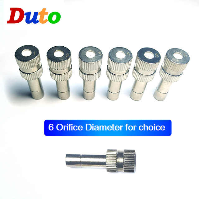 Low Pressure High Quality Atomizing Misting Nozzle Spray Injector Atomization Head Mister Mist Spraying System Nozzle quick Push