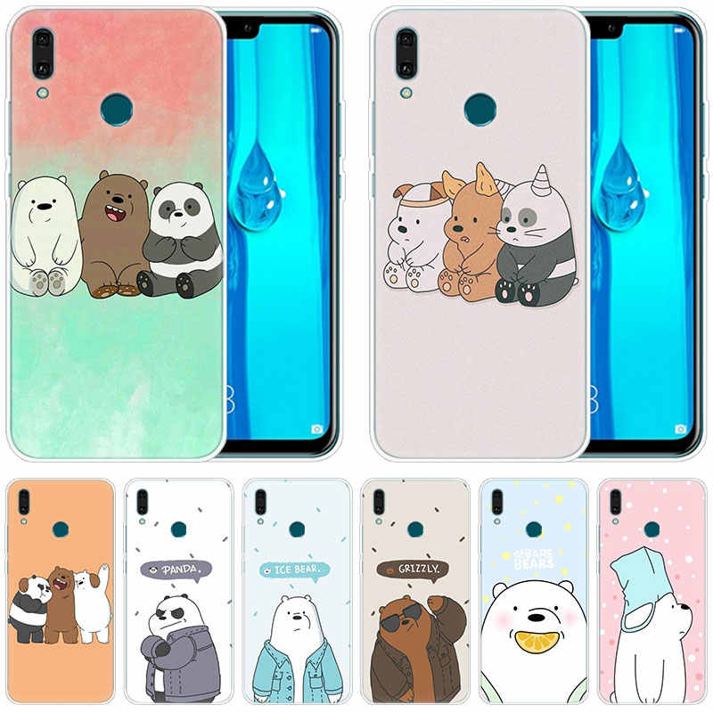 luxury Soft Silicone Case We bare bears party for Huawei Mate 30 20 Lite 10 Pro Y5 Y6 Y7 Pro 2019 Y9 Prime 2019 2018 Y6 Pro 2017