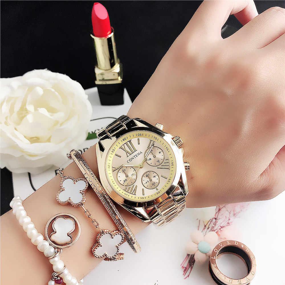 Klassische Gold Frauen Uhren Designer Marke Luxus Mode Quarz Damen Ctystal Uhren Weibliche Uhren Armbanduhren Reloj Mujer