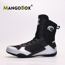 Professional Mens Womens Boxing Boot Breathable Wrestling Shoes Men Anti Slip High Top Boxing Shoe Boys Lace-up Wrestling Boot
