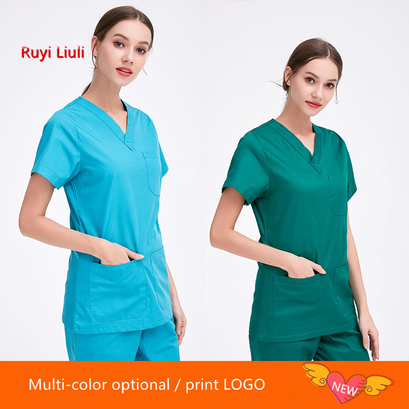 White Nursing Uniform Plus Size Medical Clothing Gown Women Men Surgical Clothing Hospital Scrubs Set Medical Costumes-Ruyi Liu