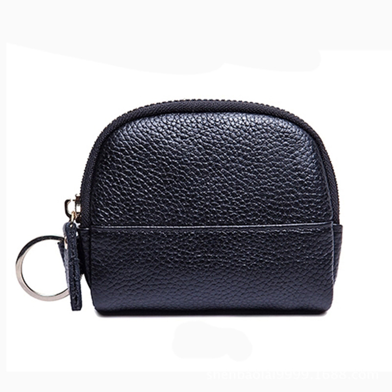 Plans To Sample Zip Coin Purse Mobile Phone Zipper Bag Faux Leather Ellipse Solid Color WOMEN'S Bag Clutch Bag