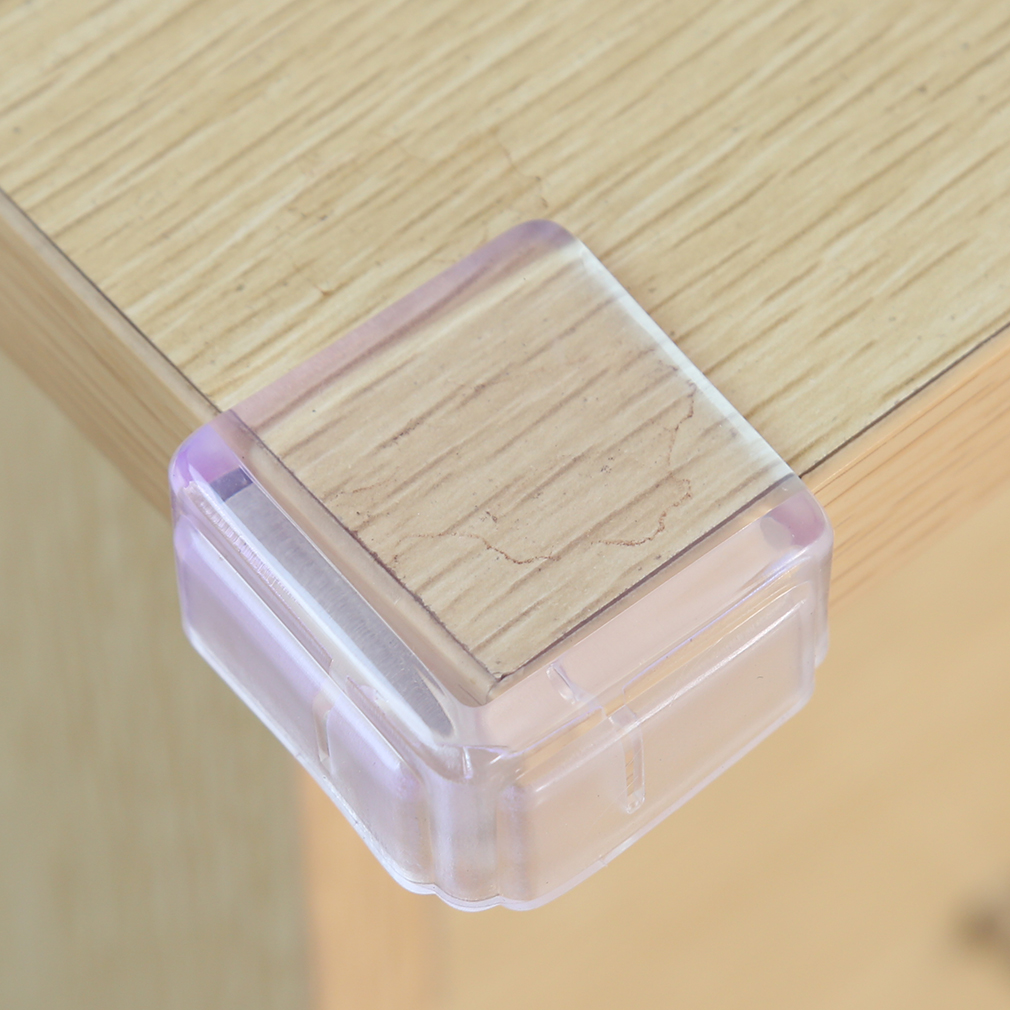 10 Packs Transparent Square Baby Safety Anti-collision Corner Table Corner Protection Against Collision Protection
