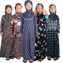 Islamitische Kleding Meisjes Abaya Voor Kinderen Kind Hijab Moslim Gebed Jurk Voor Kids Kaftans Ropa Arabe Mujer Ramadan Robe Dubai