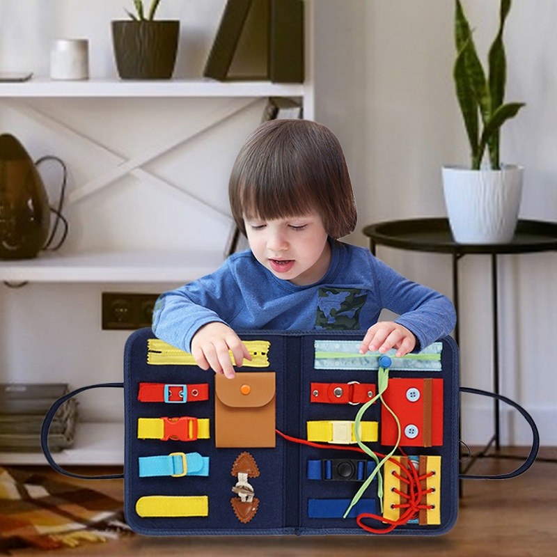 Kids Montessori Toys Baby Busy Board Buckle Training Essential Educational  Sensory Board For Toddlers Ntelligence Development| | - AliExpress