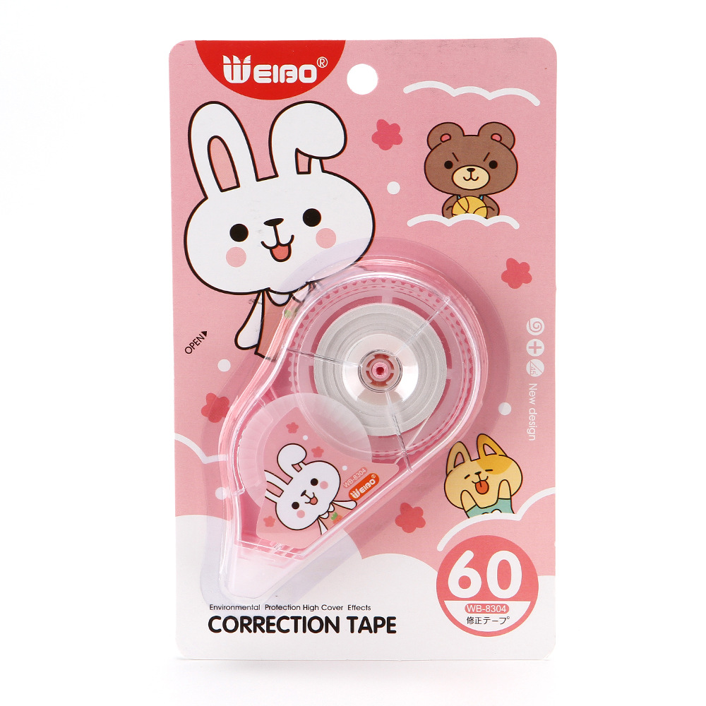 Wei Stroke Correction Tape Office Cartoon Single Pack Correction Tape Corretion Pen/fluid Office Stationery Manufacturers Wholes
