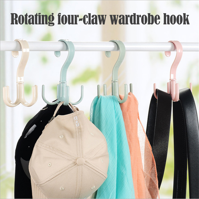 Space Saving Bag Holder Bag Hanger Wardrobes Clothes Rack 360 Degree Rotation Shoes Belt Scarf Hanging Rack