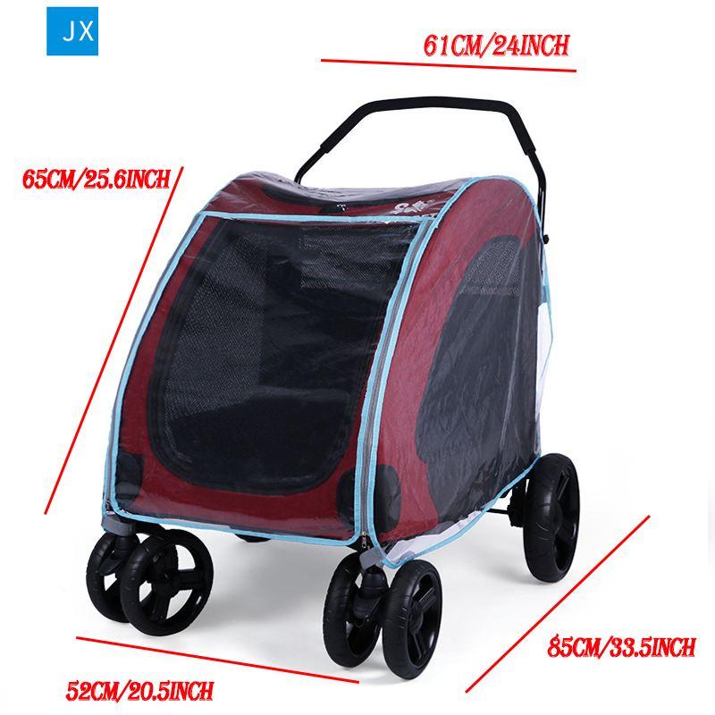 Outdoor-Pet-Cart-Dog-Cat-Carrier-Stroller-Teddy-Puppy-Out-Trolleys-Small-Cat-Foldable-Stroller-Lightweight (4)
