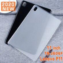 Тонкий чехол для 2020 Lenovo Tab P11 TB-J606F ТПУ мягкий чехол для задней крышки для Lenovo P11 J606F J606N J606L 11 дюймов планшетный чехол Funda Capa