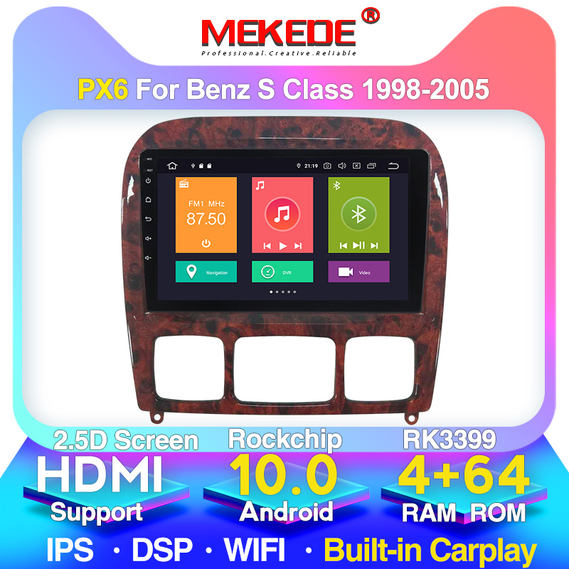 HD 9 IPS سيارة مشغل وسائط متعددة GPS 2Din ل 1998-2005 مرسيدس بنز S الدرجة W220 S280 S320 S350 S400 S430 S500 S600 S55 AMG