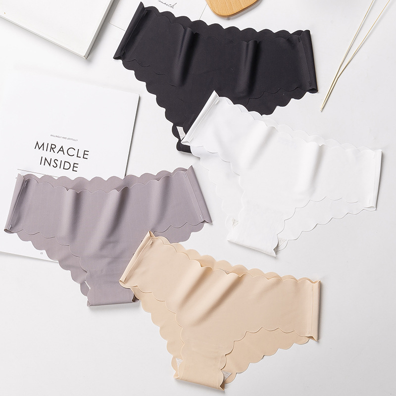 Ice Silk Seamless Women Underwear Cotton Crotch Lady's Briefs Summer Ultra-thin Breathable underpants Low-waist   Panties   15