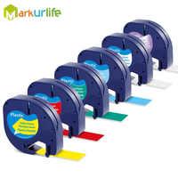 12mm Letra Tag Label Band 91200 12267 18771 91202 91203 91204 91205 Kompatibel für DYMO Kunststoff Label Drucker 91201