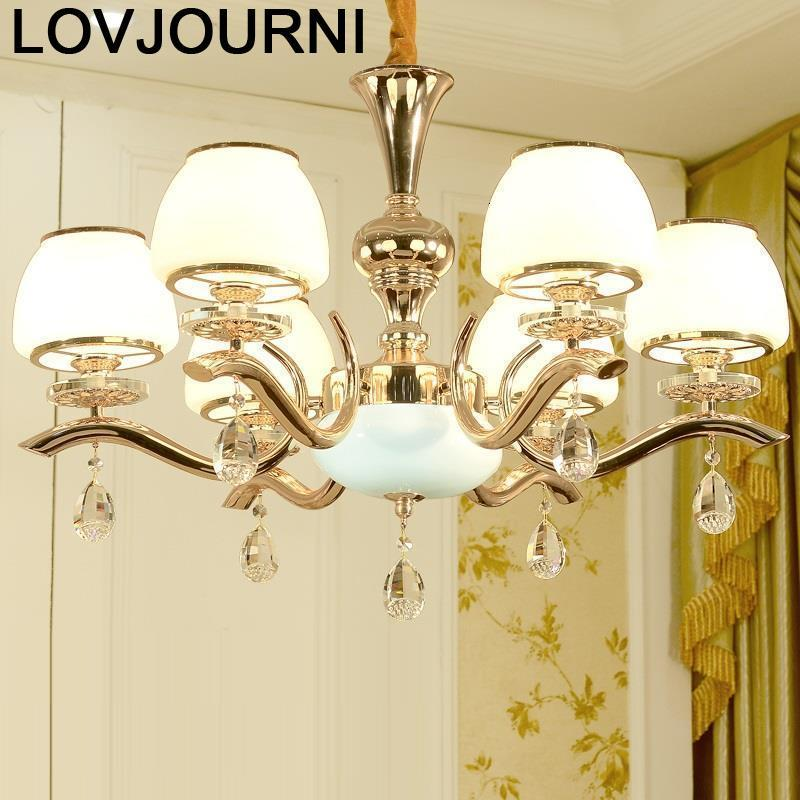Para Sala Jantar Lampara De Techo Colgante Moderna Lustre Luminaria Crystal Light Luminaire Suspendu Hanging Lamp Hanglamp in Pendant Lights from Lights Lighting