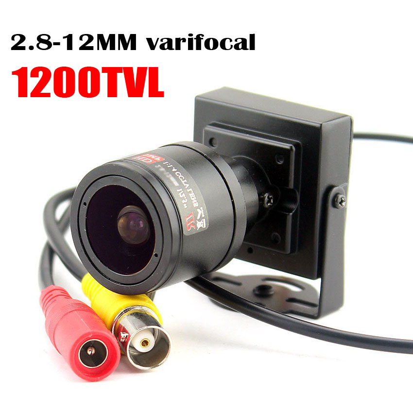 1000tvl Varifocal Lens Mini Camera 2.8-12mm Adjustable Lens Security Surveillance CCTV Camera Car Overtaking Camera