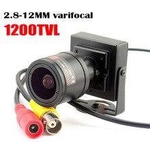 1000tvl Varifocal Ống Kính Camera Mini 2.8 12Mm Ống Kính Có Thể Điều Chỉnh An Ninh Giám Sát Camera Quan Sát Xe Vượt Qua Camera