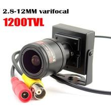 Mini cámara con lente Varifocal 1000tvl, lente ajustable de 2,8 12mm, cámara CCTV de vigilancia de seguridad, cámara que cubre el coche