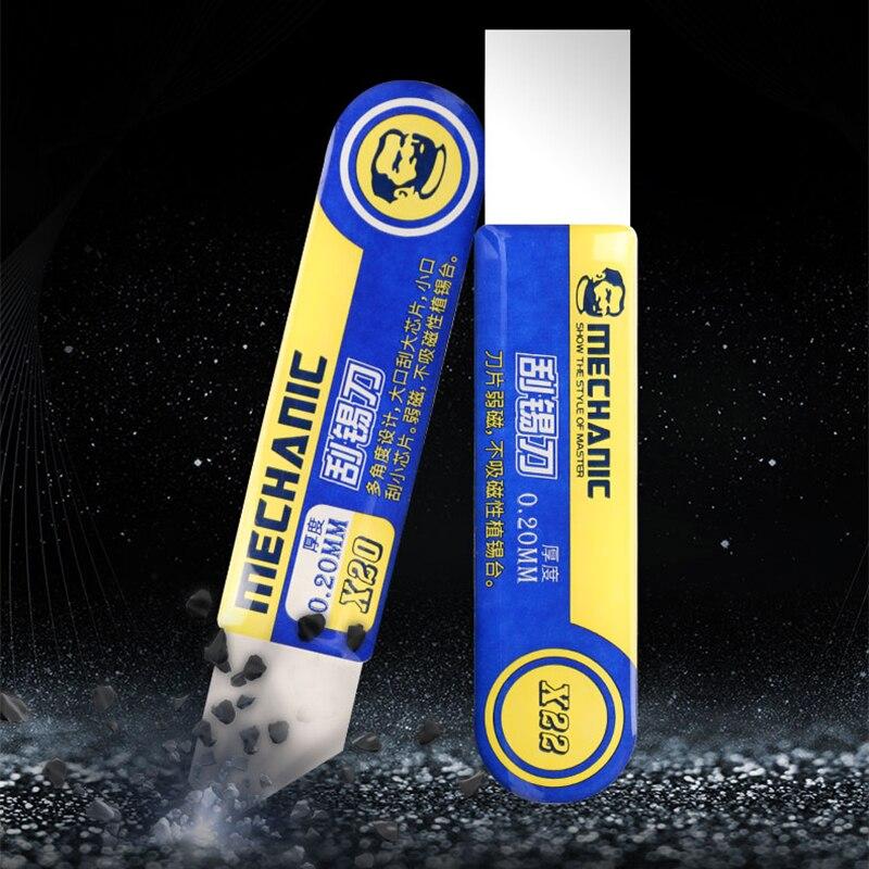Mechanic High Toughness Solder Paste Tin Scraper Knife Scraper Tin Planting for BGA Stencil Reballing Mobile Phone Repair Tools
