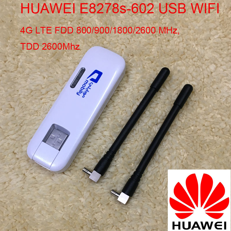 Unlocked Huawei E8278 4g 150Mbps Lte 4g USB Wireless Modem E8278s-602 4g Wifi Stick For Mac Android Pad Pk E3276 E8372 E3372