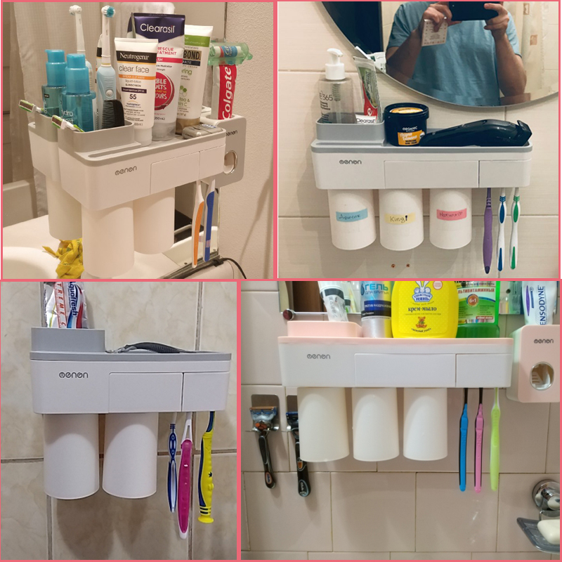 Bathroom Organizer Made With ABS Material And Shelf Magnetic Used For Shampoo And Shower Gel 2