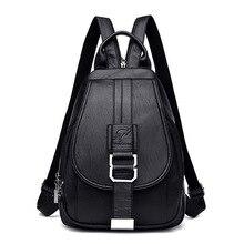 Mochilas de cuero Vintage para mujer, bolso de hombro femenino, bolso de viaje para chicas, Mochilas escolares