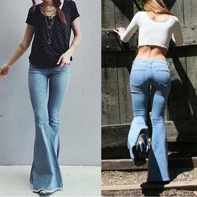 2020 Hoge Taille Jeans Vrouw Vintage Vrouwelijke Flare Jeans Voor Vrouwen Vintage Wijde Pijpen Broek Denim Plus Size Bell Bottom mom Jeans