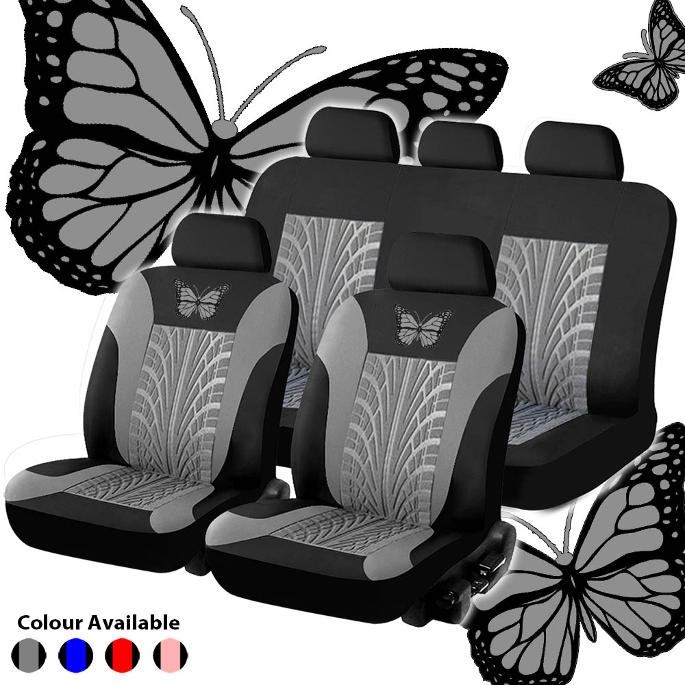Car-Seat-Cover-Set Interior-Accessories Full-Set Butterfly-Pattern General Embroidery title=