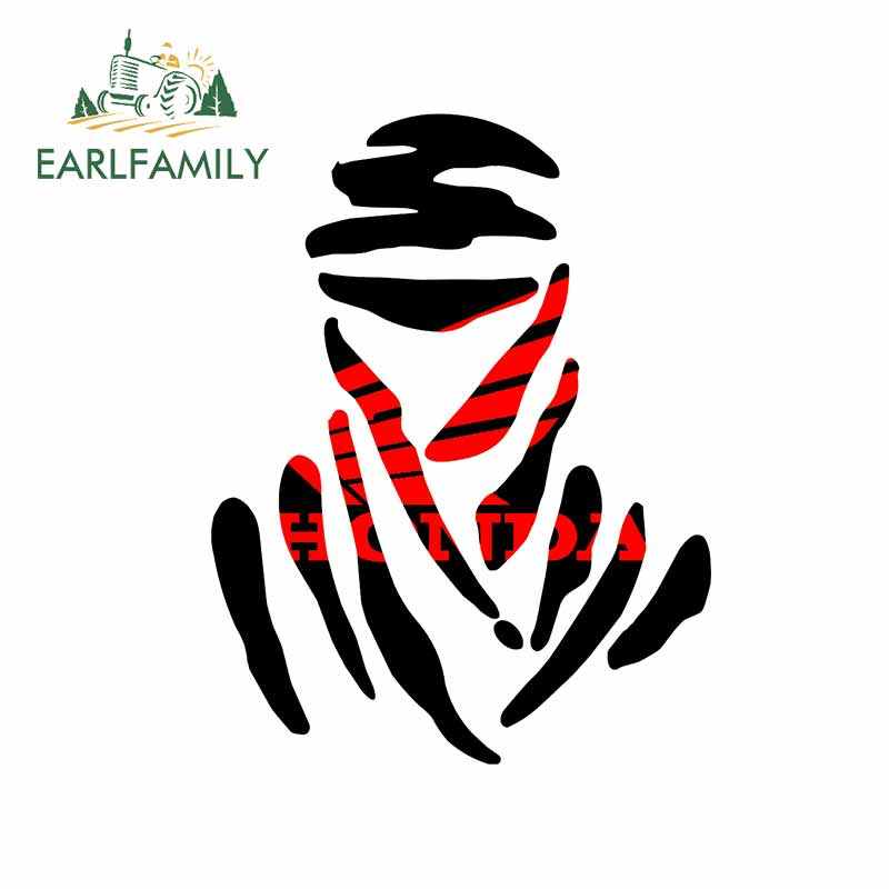 EARLFAMILY 13cm For Dakar Graffiti Car Stickers Comical Decal Funny Occlusion Scratch Vinyl Material For JDM SUV RV Decoration(China)