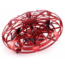 Samolotne drony dla dzieci latające zabawki Quadcopter z unikaniem przeszkód sterowany ręcznie Mini Drone dla początkujących dzieci tanie tanio LISHEN Z tworzywa sztucznego 30 days not included 11*11*5cm Silnik szczotki Kabel usb 3 7V about 30 minutes Electric Do not near fire