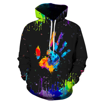 Men's Hoodies Palm Color Printing Men's New Autumn And Winter Fashion Palm Printed Hoodie Long Sleeve Blouse Мужские Комплекты 2